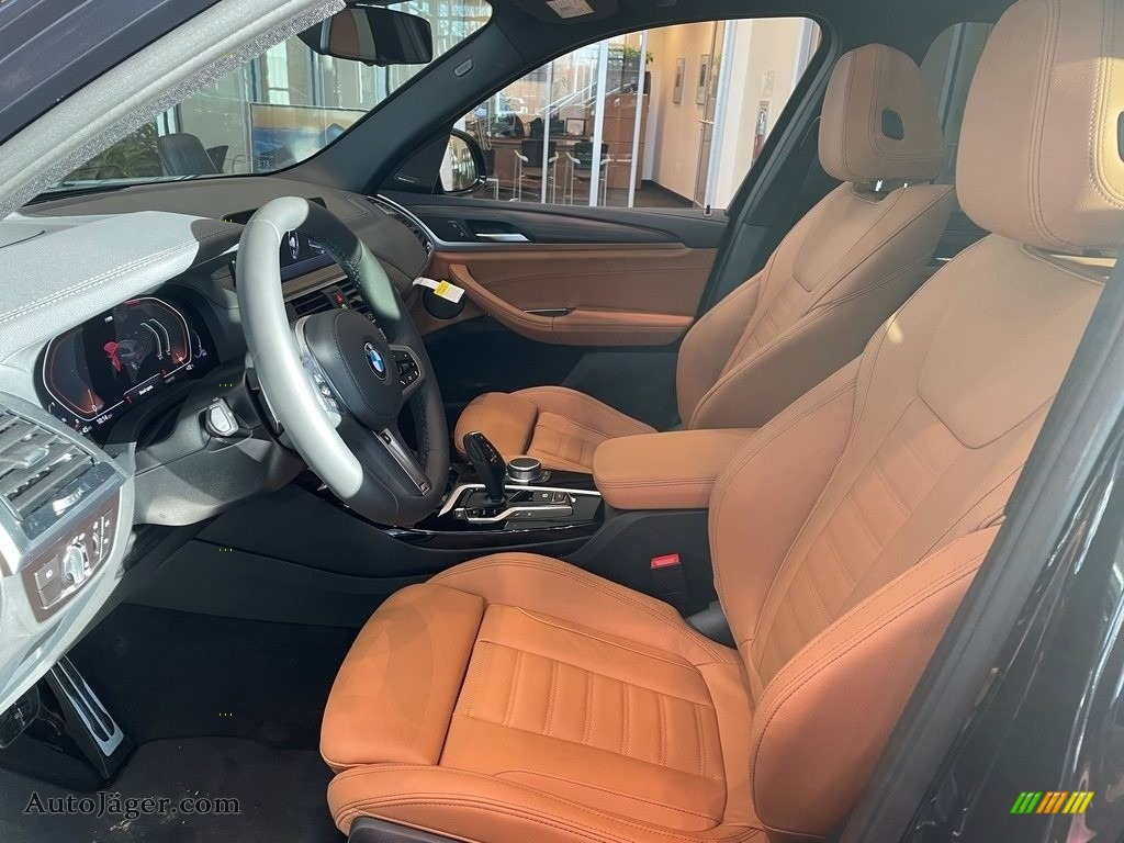 2021 X3 xDrive30i - Carbon Black Metallic / Cognac photo #3