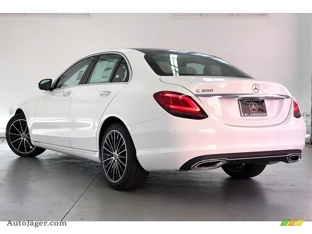 2021 C 300 Sedan - Polar White / Silk Beige photo #2