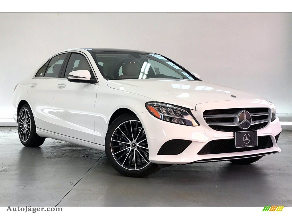 2021 C 300 Sedan - Polar White / Silk Beige photo #12