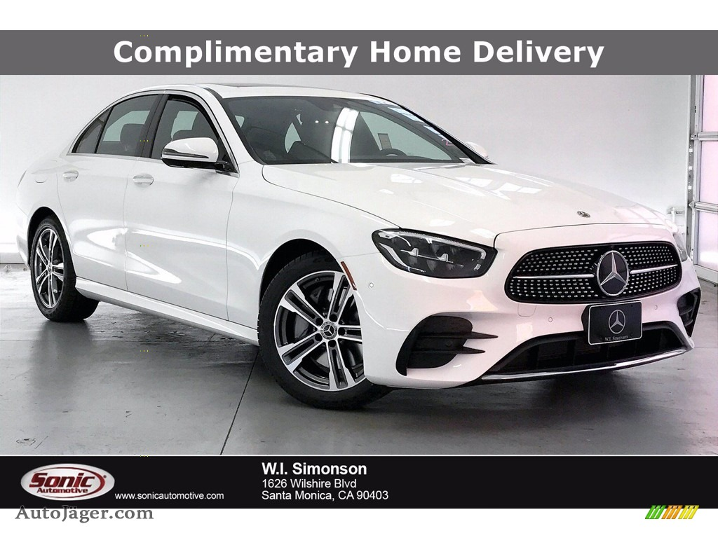 2021 E 350 Sedan - Polar White / Black photo #1