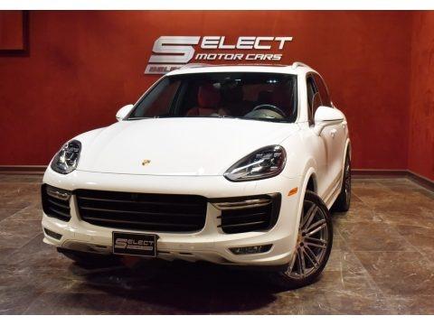 White 2017 Porsche Cayenne Turbo