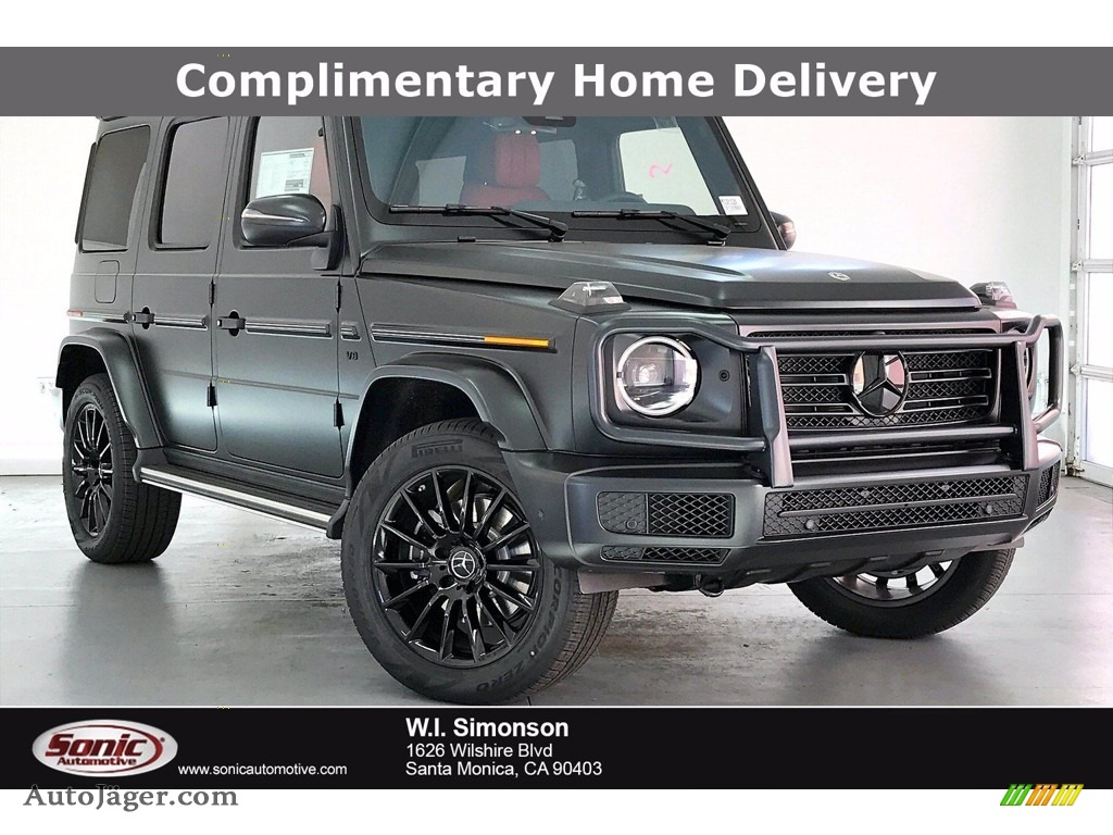 2021 G 550 - designo Night Black Magno (Matte) / designo Classic Red/Black photo #1