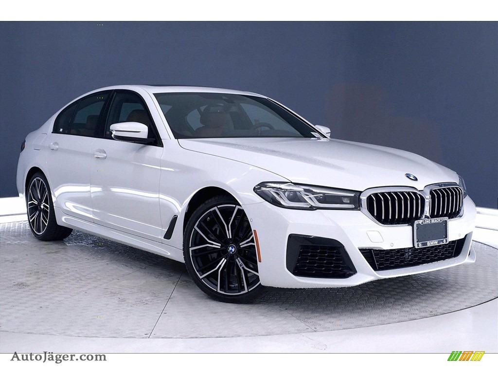 2021 5 Series 540i Sedan - Alpine White / Cognac photo #1