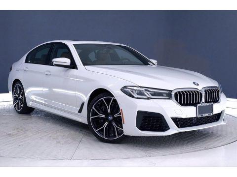 Alpine White 2021 BMW 5 Series 540i Sedan