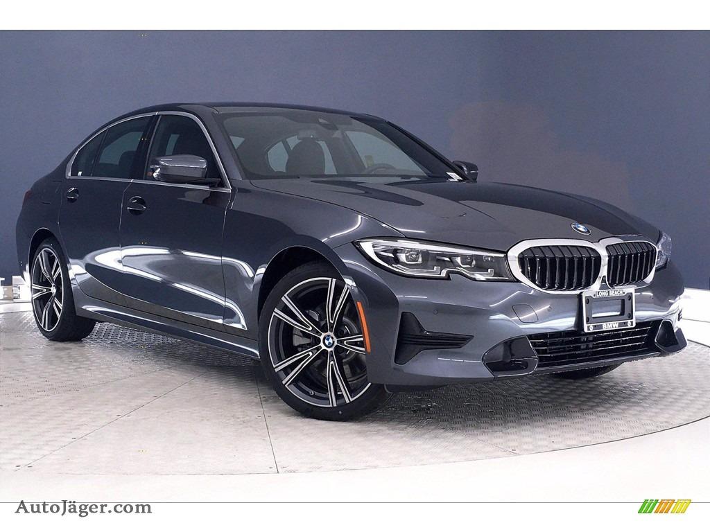 2021 3 Series 330e Sedan - Mineral Gray Metallic / Black photo #1