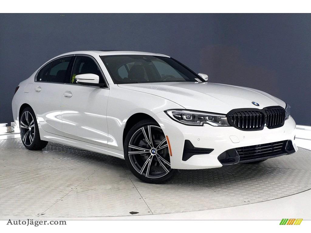 2021 3 Series 330i Sedan - Alpine White / Black photo #1