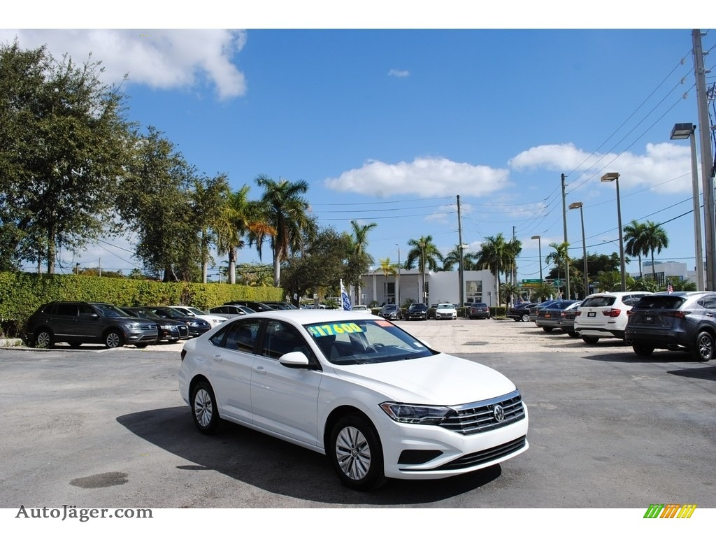 2020 Jetta S - Pure White / Titan Black photo #1