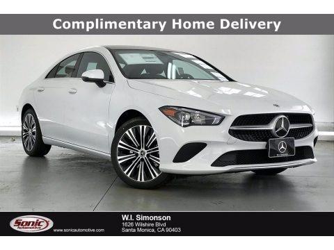 Digital White 2021 Mercedes-Benz CLA 250 Coupe