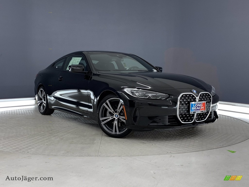 2021 4 Series 430i Coupe - Jet Black / Black photo #1