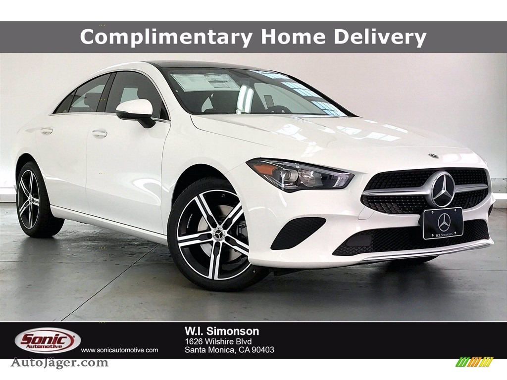 2021 CLA 250 Coupe - Polar White / Black photo #1