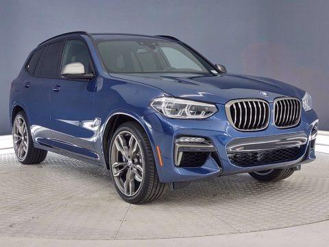 Phytonic Blue Metallic 2021 BMW X3 M40i