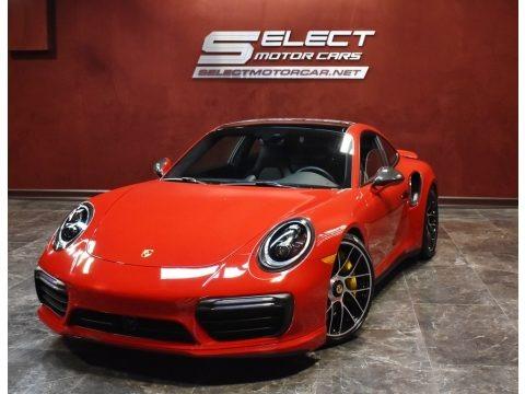 Carmine Red 2019 Porsche 911 Turbo S Coupe