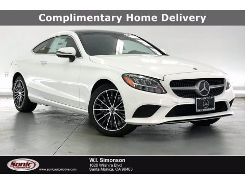 Polar White 2021 Mercedes-Benz C 300 Coupe