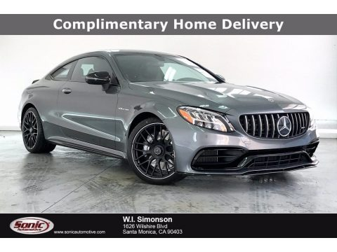 Selenite Gray Metallic 2021 Mercedes-Benz C AMG 63 Coupe