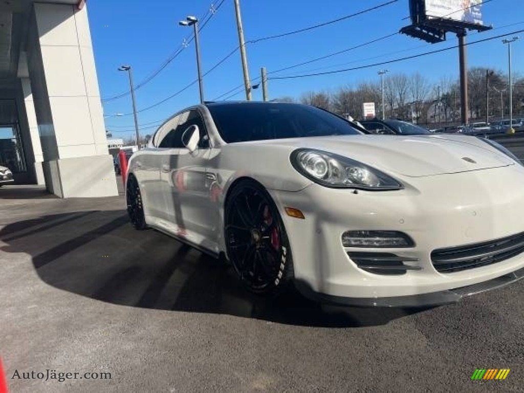 2011 Panamera 4S - Carrara White / Luxor Beige/Cream photo #1