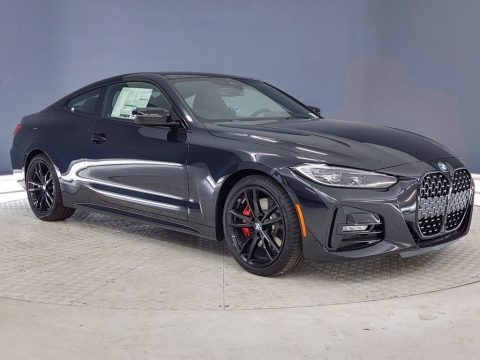 Black Sapphire Metallic 2021 BMW 4 Series 430i Coupe