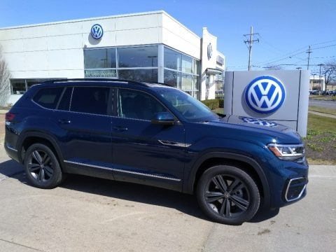 Tourmaline Blue Metallic 2021 Volkswagen Atlas SE R-Line 4Motion