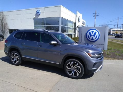 Platinum Gray Metallic 2021 Volkswagen Atlas SEL Premium 4Motion