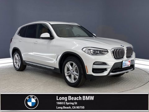 Mineral White Metallic 2021 BMW X3 sDrive30i