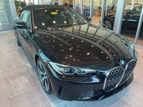 Black Sapphire Metallic 2021 BMW 4 Series 430i Convertible