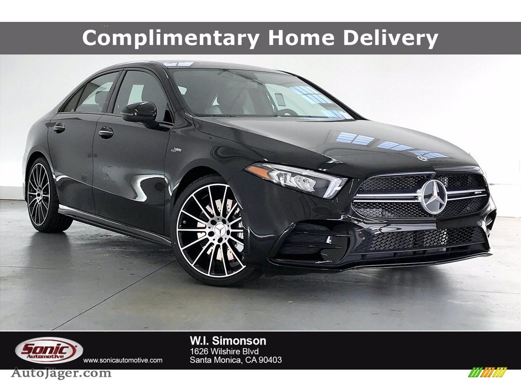 2021 A 220 4Matic Sedan - Night Black / Neva Grey/Black photo #1