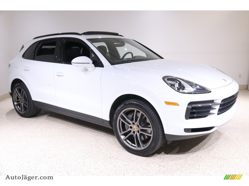 2019 Cayenne S - Carrara White Metallic / Black photo #1