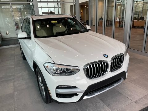 Alpine White 2021 BMW X3 xDrive30i