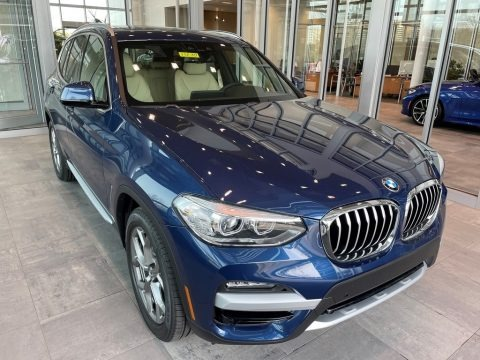 Phytonic Blue Metallic 2021 BMW X3 xDrive30i