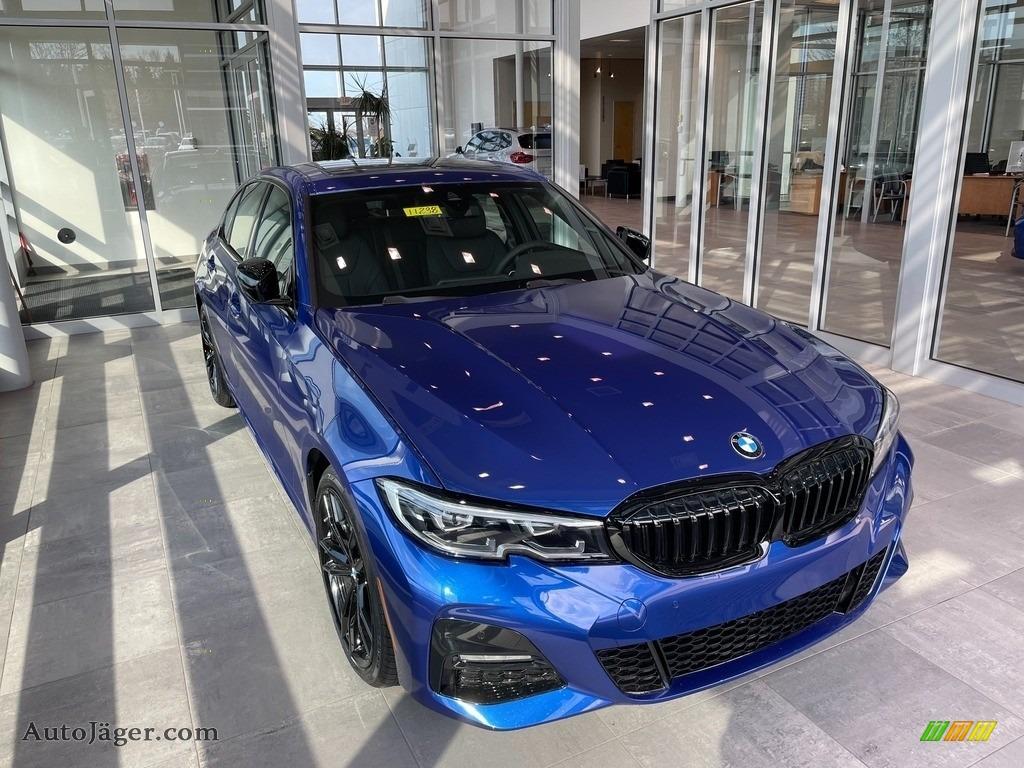 2021 3 Series 330i xDrive Sedan - Portimao Blue Metallic / Black photo #1