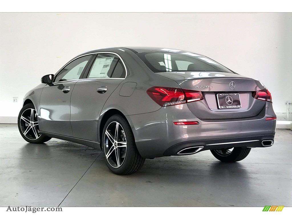 2021 A 220 Sedan - Mountain Grey Metallic / Black photo #2