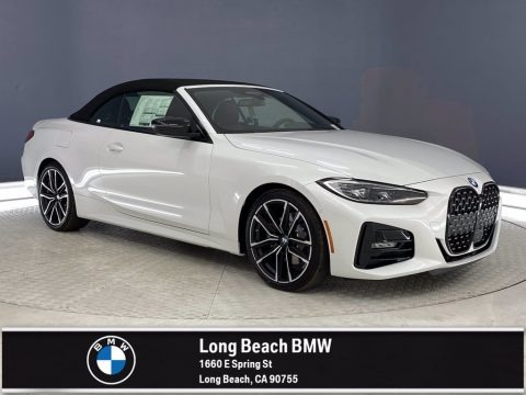 Mineral White Metallic 2021 BMW 4 Series 430i Convertible
