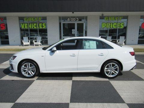 Ibis White 2020 Audi A4 Premium quattro