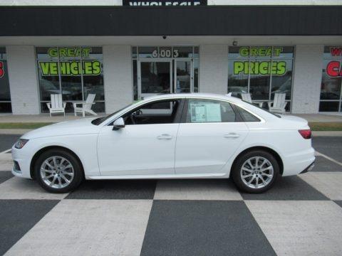 Ibis White 2020 Audi A4 Premium