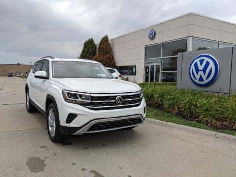 Pure White 2021 Volkswagen Atlas SE 4Motion