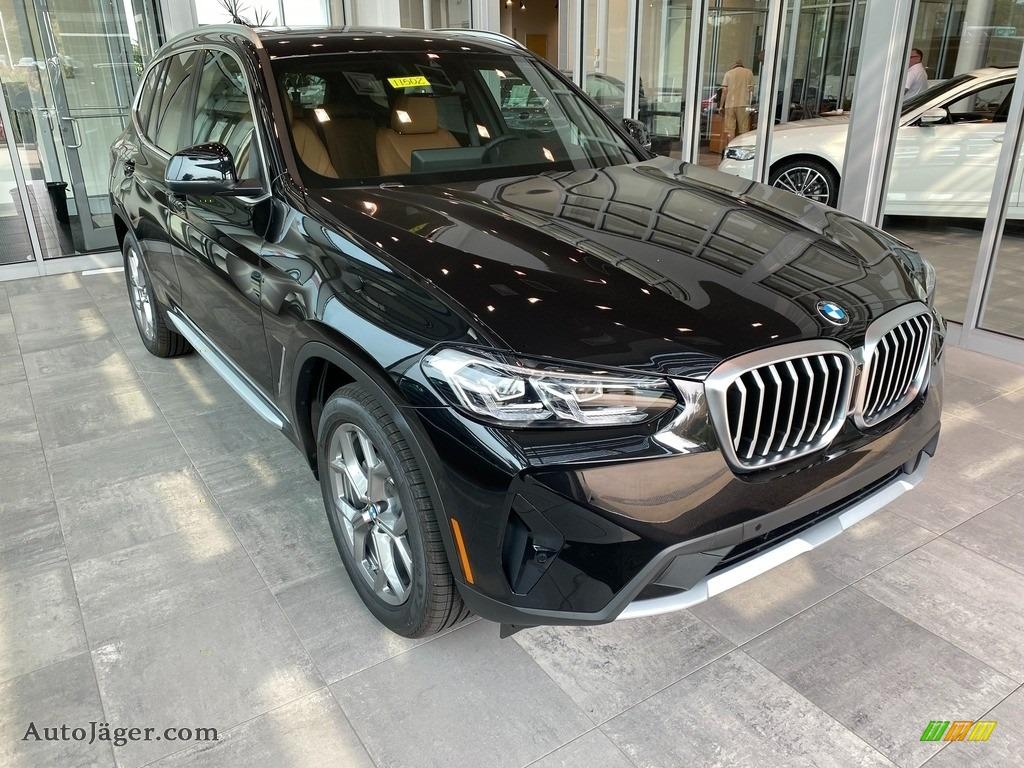 2022 X3 xDrive30i - Black Sapphire Metallic / Cognac photo #1
