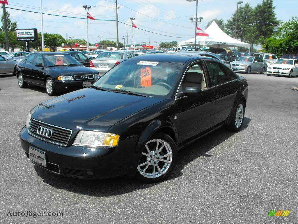 2002 audi a6 4 2 quattro sedan in brilliant black 111470 auto j ger german cars for sale. Black Bedroom Furniture Sets. Home Design Ideas