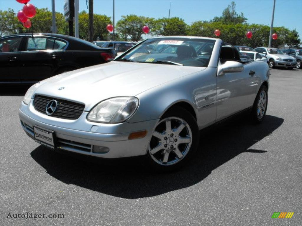 1998 mercedes benz slk 230 kompressor roadster in brilliant silver metallic 030794 auto. Black Bedroom Furniture Sets. Home Design Ideas