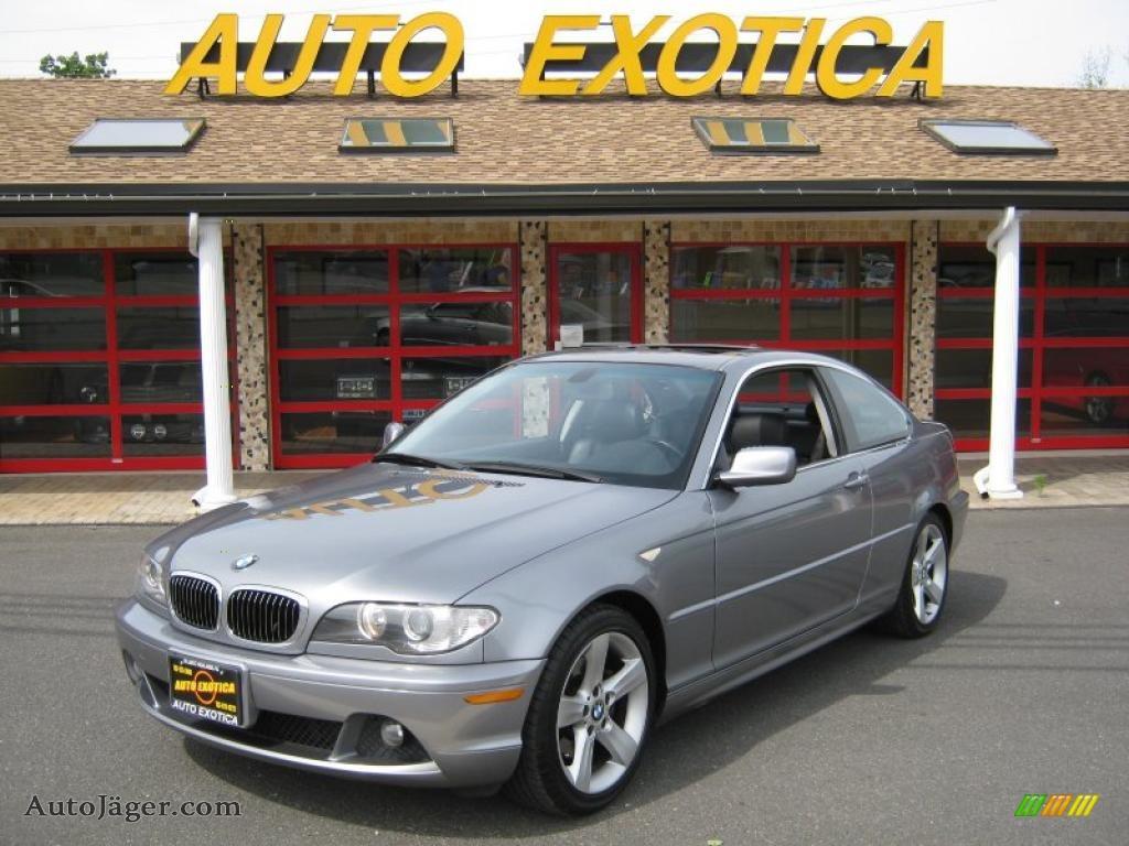 2004 3 series 325i coupe silver grey metallic black photo 1