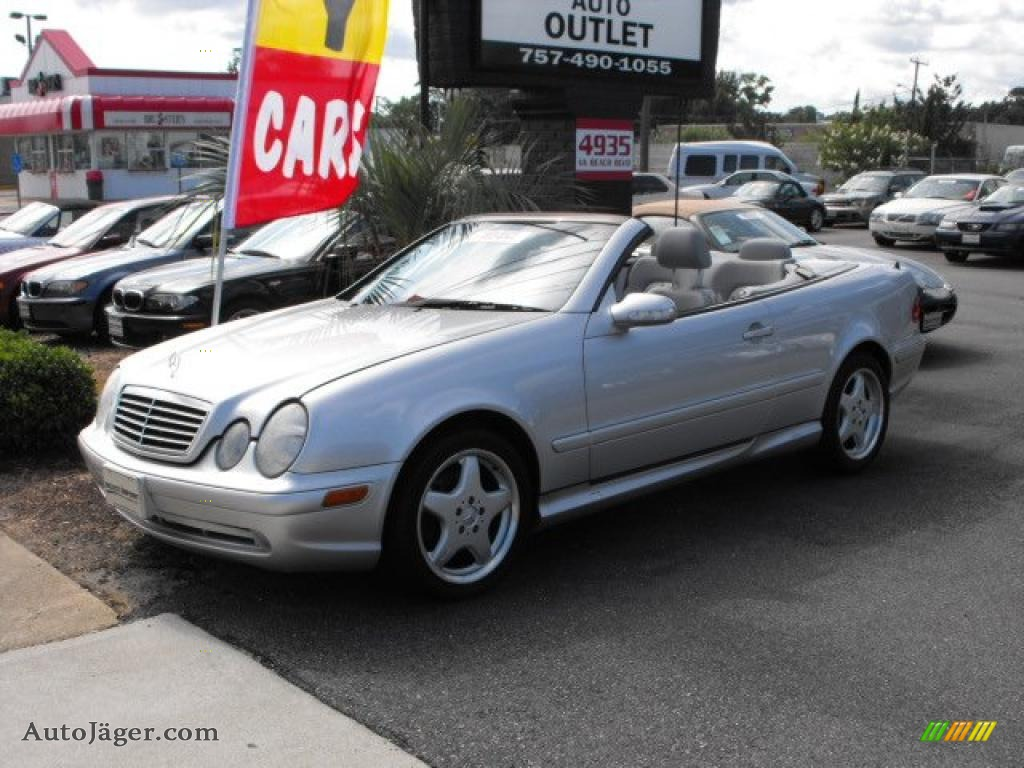 2000 mercedes benz clk 430 cabriolet in brilliant silver metallic 048591 auto j ger german. Black Bedroom Furniture Sets. Home Design Ideas