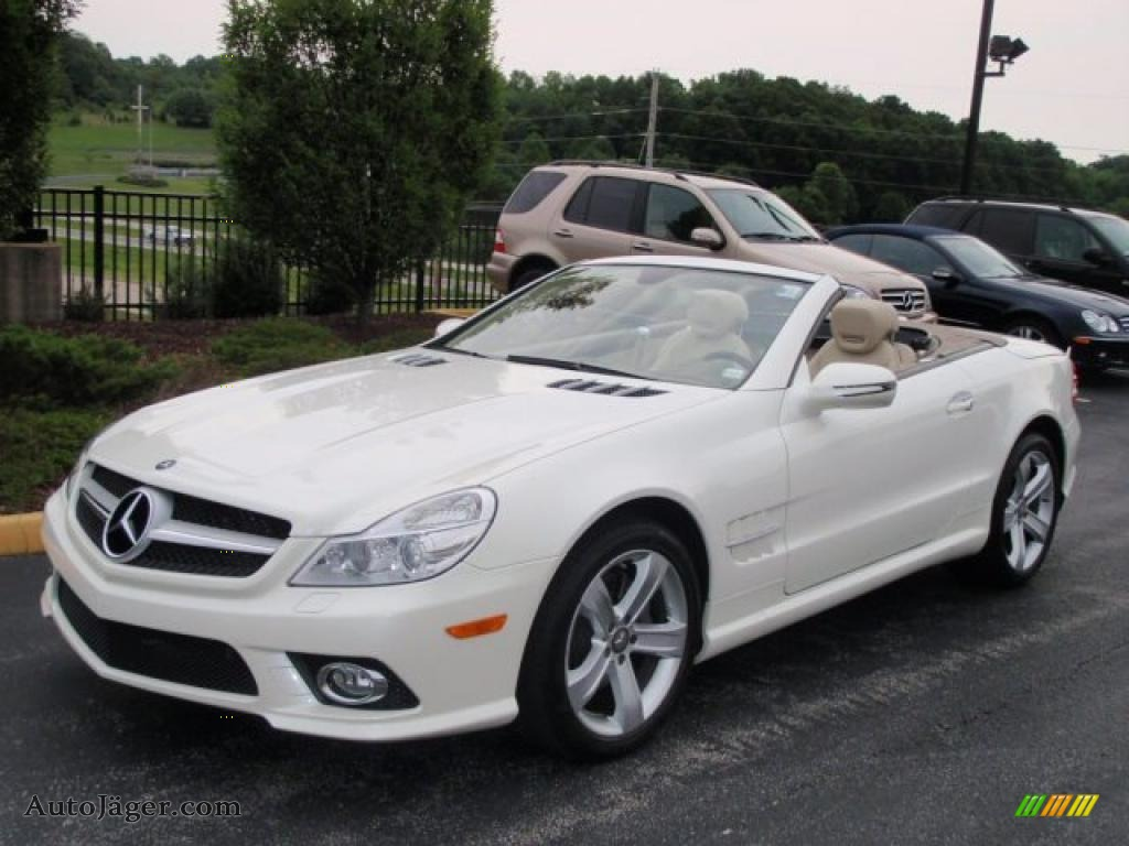 2009 mercedes benz sl 550 roadster in diamond white for 2009 mercedes benz roadster
