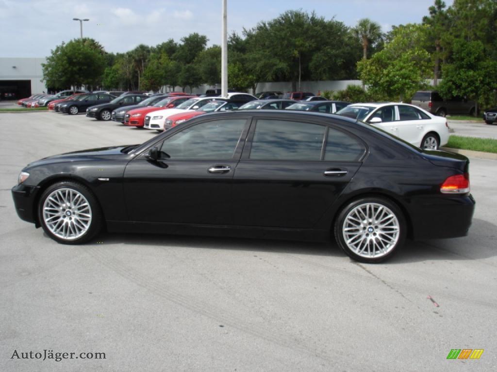 2008 Bmw 7 Series 750li Sedan In Azurite Black Metallic