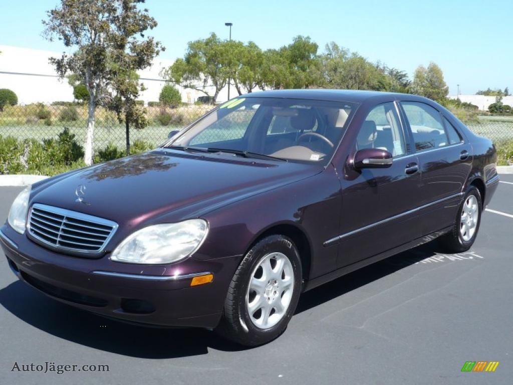 2000 mercedes benz s 430 sedan in almandine black metallic for Mercedes benz s 430
