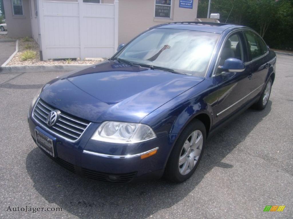 2005 volkswagen passat gls 1 8t sedan in shadow blue metallic 110121 auto j ger german. Black Bedroom Furniture Sets. Home Design Ideas