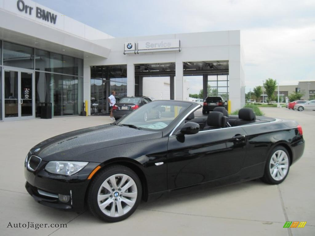 Jet Black BMW 3 Series 328i Convertible