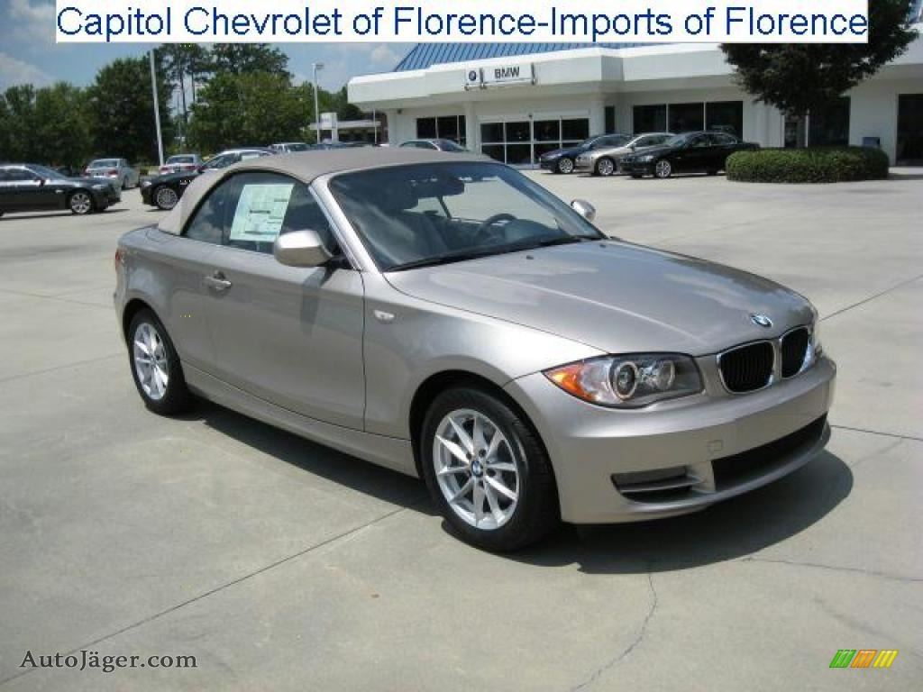 2011 Bmw 1 Series 128i Convertible In Cashmere Silver