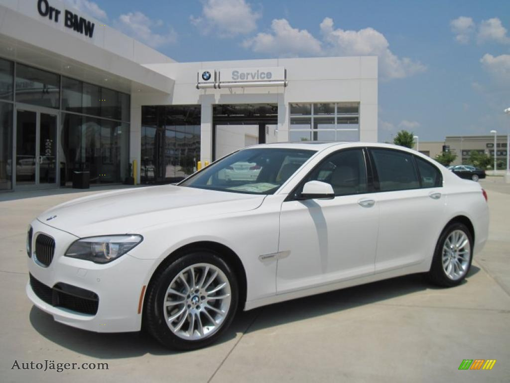 Alpine White Oyster Black Nappa Leather BMW 7 Series 740i Sedan