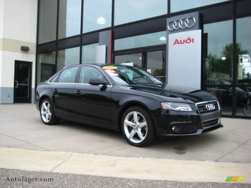 black audi 2010. phantom black pearl effect audi a4 20t quattro sedan 2010