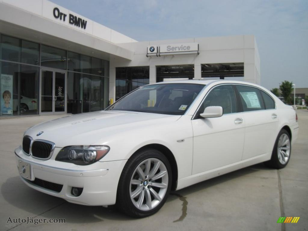 Alpine White Cream Beige BMW 7 Series 750Li Sedan