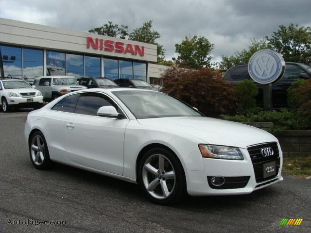 2008 audi a5 3 2 quattro coupe in ibis white 027535. Black Bedroom Furniture Sets. Home Design Ideas