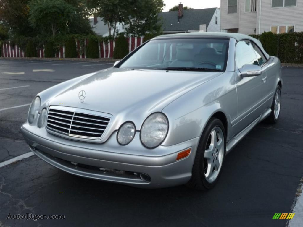 2002 mercedes benz clk 430 cabriolet in brilliant silver metallic 099534 auto j ger german. Black Bedroom Furniture Sets. Home Design Ideas